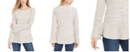 Style & Co Bell Sleeve Marled Knit Sweater, Created For Macy's