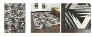 "Global Rug Designs CLOSEOUT! Global Rug Design Cresent CRE02 Dark Gray 7'10"" x 10'2"" Area Rug"