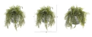 """Nearly Natural 10"""" Tillandsia Moss Artificial Plant in Vintage Hanging Metal Pail"""