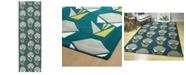 "Kaleen Origami ORG06-91 Teal 2'6"" x 8' Runner Rug"