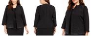 Kasper Plus Size Embellished Open-Front Jacket