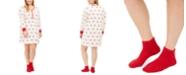 Charter Club Plus Size Printed Henley Sleep Shirt & Socks, Set Created For Macy's