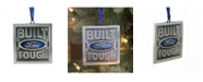 "Northlight 3"" Officially Licensed Built Ford Tough Brushed Nickel Plated Christmas Tree Ornament"