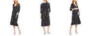 Seraphine Maternity Printed Wrap Dress