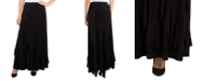 NY Collection Women's Solid Maxi Skirt with Godets