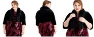 Jessica Howard Plus Size Velvet Faux-Fur-Trim Shrug
