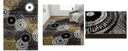 "Main Street Rugs Home Montane Mon119 Gray/Yellow 7'10"" x 10'2"" Area Rug"