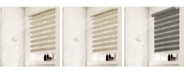 "Chicology Cordless Zebra Shades, Dual Layer Combi Window Blind, 62"" W x 72"" H"