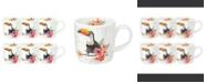 Royal Worcester Wrendale Toucan Of My Affection Mug Set/6