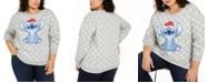 Love Tribe Disney by Trendy Plus Size Stitch Graphic-Print Sweatshirt