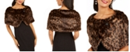 Tahari ASL Leopard-Print Faux-Fur Shawl, Created for Macy's