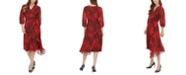 Calvin Klein Snake-Print Wrap-Front Dress