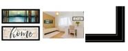 "Trendy Decor 4U Love / Home 2-Piece Vignette by Marla Rae, Black Frame, 39"" x 15"""