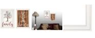 "Trendy Decor 4U Trendy Decor 4U Family Tree/ Roots 2-Piece Vignette by Marla Rae, White Frame, 15"" x 21"""