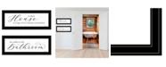 "Trendy Decor 4U Household Humor 2-Piece Vignette by Lori Deiter, Black Frame, 23"" x 11"""