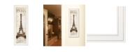 "Trendy Decor 4U Paris Panel by Cloverfield Co, Ready to hang Framed Print, White Frame, 8"" x 23"""