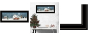 """Trendy Decor 4U Winter on The Farm by Billy Jacobs, Ready to hang Framed Print, Black Frame, 27"""" x 11"""""""