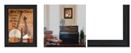 """Trendy Decor 4U Music By Billy Jacobs, Printed Wall Art, Ready to hang, Black Frame, 21"""" x 15"""""""