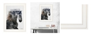 """Trendy Decor 4U Proud Stallion by andreas Lie, Ready to hang Framed Print, White Frame, 15"""" x 19"""""""