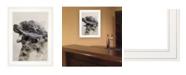 "Trendy Decor 4U Bear Fog by andreas Lie, Ready to hang Framed Print, White Frame, 15"" x 19"""
