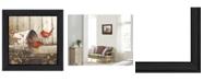 "Trendy Decor 4U Trendy Decor 4U Playing Around By John Rossini, Printed Wall Art, Ready to hang, Black Frame, 15"" x 15"""