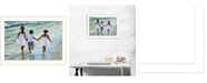 """Trendy Decor 4U Running on the Beach By Georgia Janisse, Printed Wall Art, Ready to hang, White Frame, 14"""" x 10"""""""