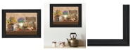 """Trendy Decor 4U Antique Kitchen By Ed Wargo, Printed Wall Art, Ready to hang, Black Frame, 14"""" x 10"""""""