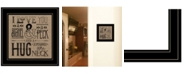"Trendy Decor 4U Hugs Around the Neck by Deb Strain, Ready to hang Framed Print, Black Frame, 15"" x 15"""