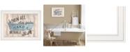 "Trendy Decor 4U Bathroom Humor by Debbie DeWitt, Ready to hang Framed print, White Frame, 19"" x 15"""
