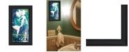 """Trendy Decor 4U Under the Sea by Cindy Jacobs, Ready to hang Framed Print, Black Frame, 11"""" x 19"""""""