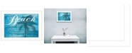 """Trendy Decor 4U Take Me There By Cindy Jacobs, Printed Wall Art, Ready to hang, White Frame, 14"""" x 10"""""""