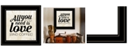 Trendy Decor 4U Trendy Decor 4U All You Need is Love and Coffee by SUSAn Ball, Ready to hang Framed Print Collection