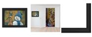 "Trendy Decor 4U Bluebird Snowman by Kim Norlien, Ready to hang Framed Print, Black Frame, 10"" x 14"""
