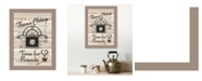 """Trendy Decor 4U Time for Friends by Millwork Engineering, Ready to hang Framed Print, Taupe Frame, 10"""" x 14"""""""