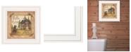 "Trendy Decor 4U Bath House by Mary Ann June, Ready to hang Framed Print, White Frame, 13"" x 13"""