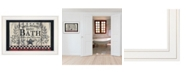 "Trendy Decor 4U Hot Bath By Linda Spivey, Ready to hang Framed print, White Frame, 19"" x 15"""