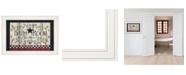 "Trendy Decor 4U Bathroom by Linda Spivey, Ready to hang Framed print, White Frame, 19"" x 15"""