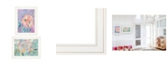 "Trendy Decor 4U Trendy Decor 4U Bloom for Yourself 2-Piece Vignette by Kait Roberts, White Frame, 15"" x 19"""