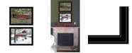 "Trendy Decor 4U Trendy Decor 4U Covered Bridge Collection II 2-Piece Vignette by Billy Jacobs, Black Frame, 19"" x 15"""