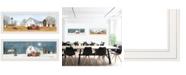 "Trendy Decor 4U Billy Jacobs Seasonal-Autumn/Winter 2-Piece Vignette, White Frame, 39"" x 15"""
