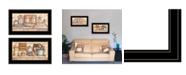 "Trendy Decor 4U My Happy Place 2-Piece Vignette by Mary June, Black Frame, 21"" x 12"""