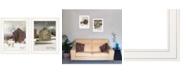"Trendy Decor 4U Cold Winter 2-Piece Vignette by Billy Jacobs, White Frame, 15"" x 19"""