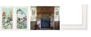 "Trendy Decor 4U Floral Field 2-Piece Vignette by Michele Norman, White Frame, 15"" x 27"""