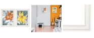 "Trendy Decor 4U Trendy Decor 4U Tiger Lilies 2-Piece Vignette by Roey Ebert, White Frame, 15"" x 19"""