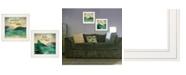 "Trendy Decor 4U Lake / Sunshine 2-Piece Vignette by Marla Rae, White Frame, 15"" x 19"""