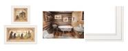 "Trendy Decor 4U Trendy Decor 4U Natures / Bath 2-Piece Vignette by Mary Ann June, White Frame, 13"" x 19"""