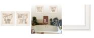 "Trendy Decor 4U Soak Unwind 2-Piece Vignette by Deb Strain, White Frame, 15"" x 15"""