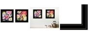 "Trendy Decor 4U Navy English Garden I II 2-Piece Vignette by Barb Tourtillotte, Black Frame, 15"" x 15"""