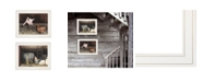 "Trendy Decor 4U Bacon Eggs 2-Piece Vignette by Billy Jacobs, White Frame, 19"" x 15"""