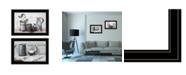 "Trendy Decor 4U Soap / Floral 2-Piece Vignette by Robin-Lee Vieira, Black Frame, 21"" x 15"""